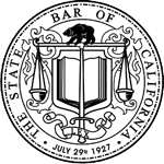 State bar seal with white background